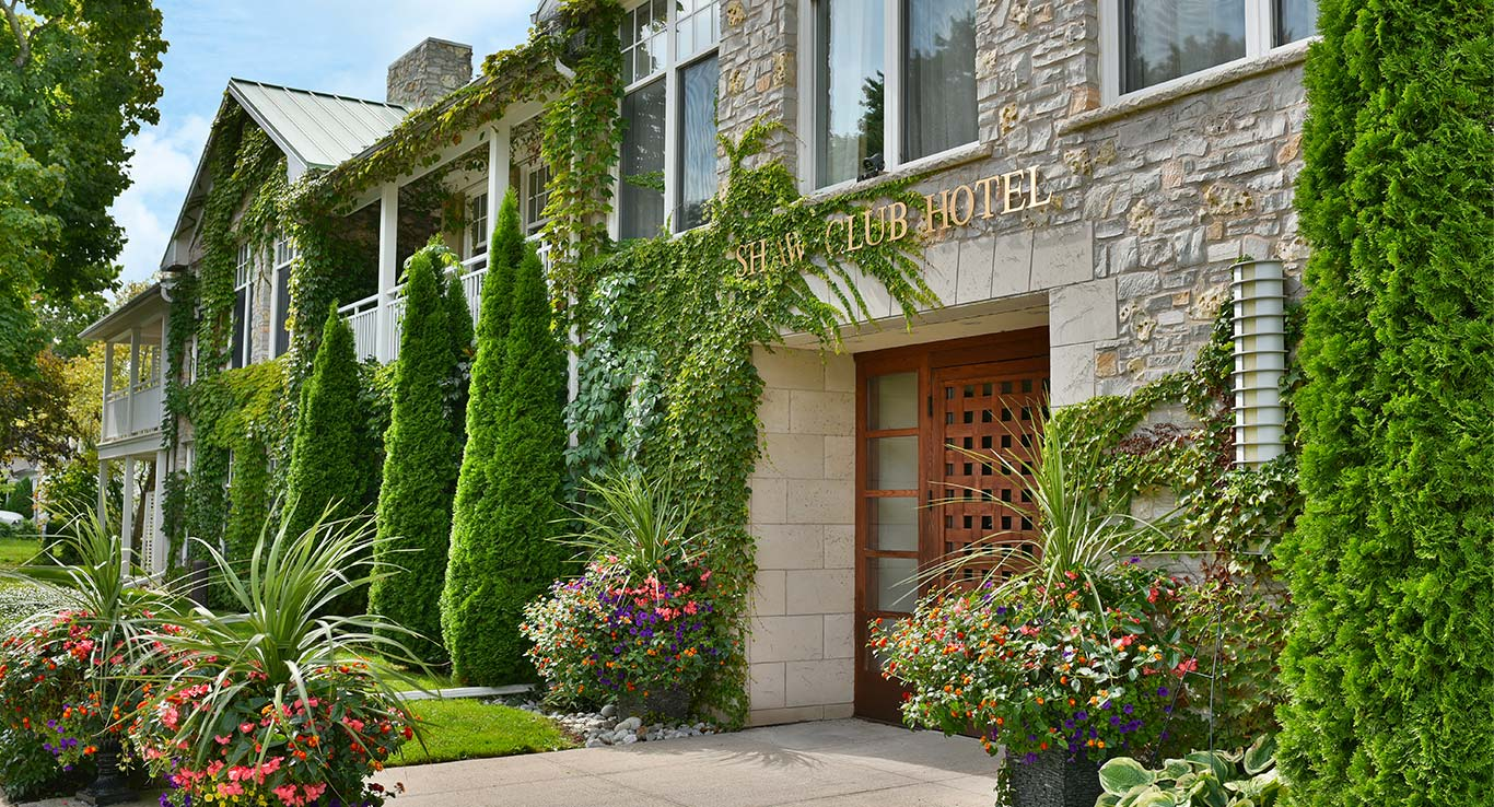 Front view of The Shaw Club in Niagara-on-the-Lake